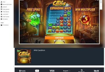 """Betsson casino - slot machine """"Wild Cauldron""""."""