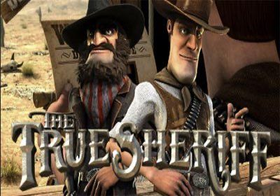 The True Sheriff Online Slot by Betsoft Logo