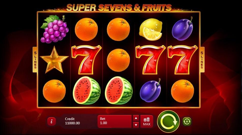 Playson Drop the Fiery 5 Super Sevens & Fruits