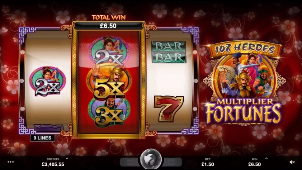 108 Heroes Multiplier Fortunes - Slot