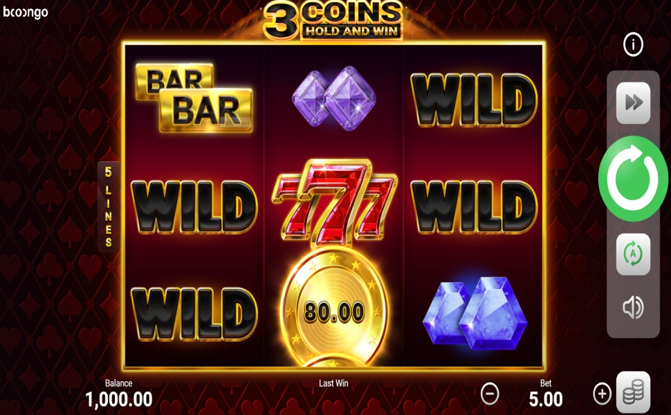 3 Coins Hold and Win - Slot