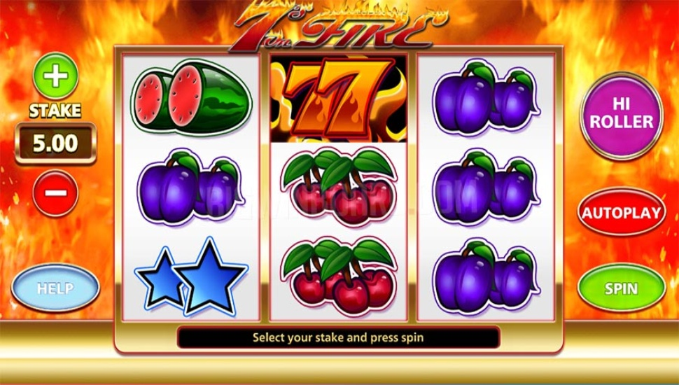 7's on Fire - Slot