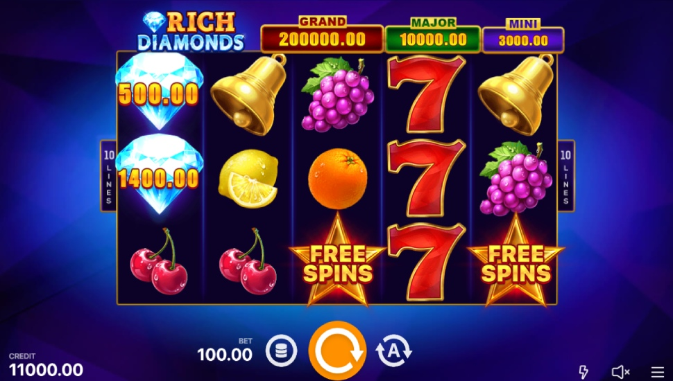 Rich Diamonds: Hold and Win - Slot