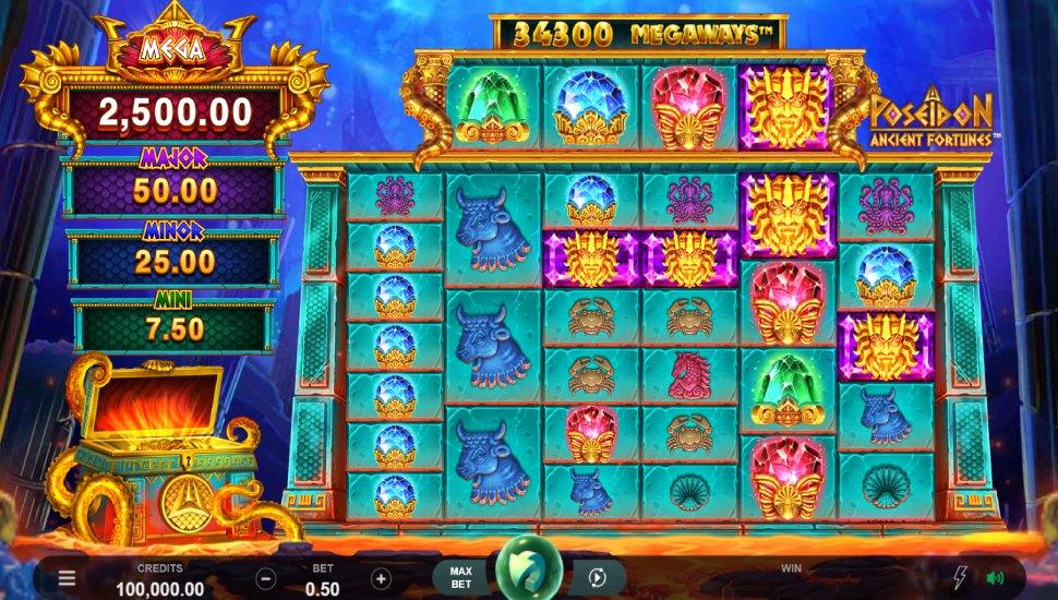 Ancient Fortunes Poseidon Megaways - Slot