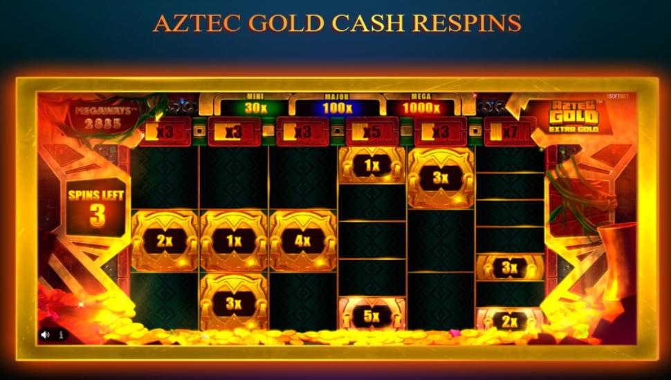 Aztec Gold Extra Gold Megaways - Bonus features