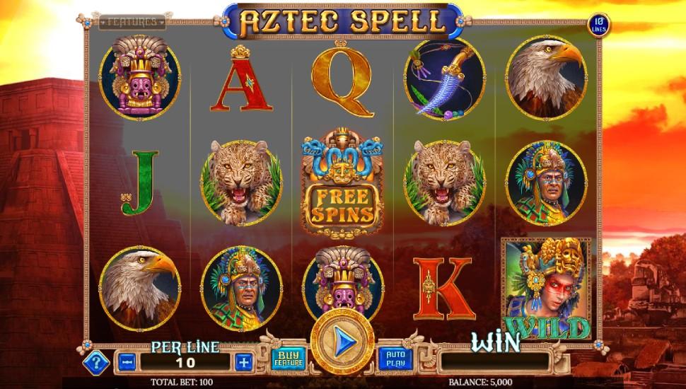 Aztec Spell 10 lines - Slot