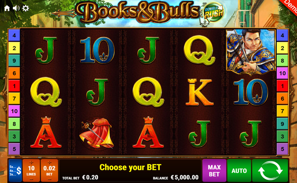 Books and Bulls Double Rush - Slot