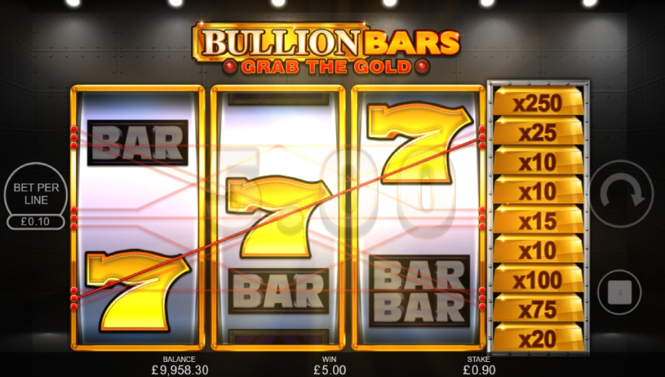 Bullion Bars – Grab the Gold - Bonus Features