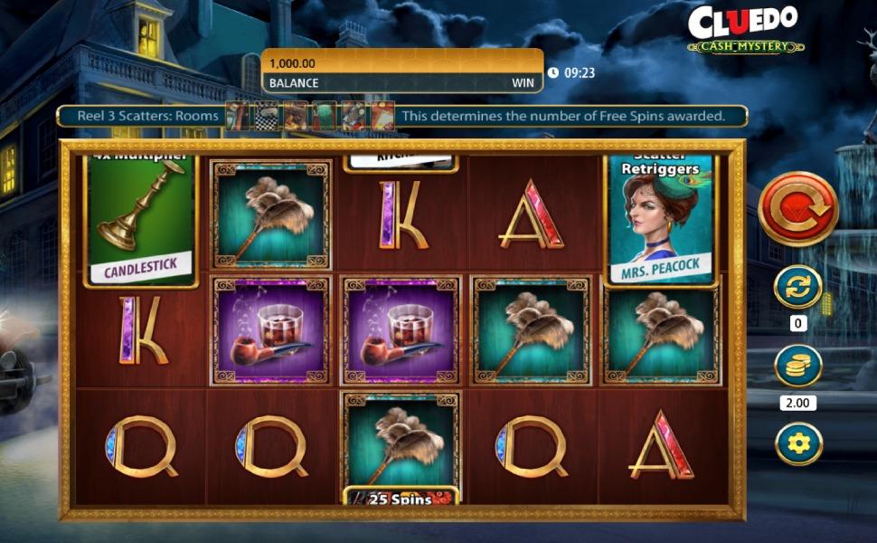 Cluedo cash mystery - Slot