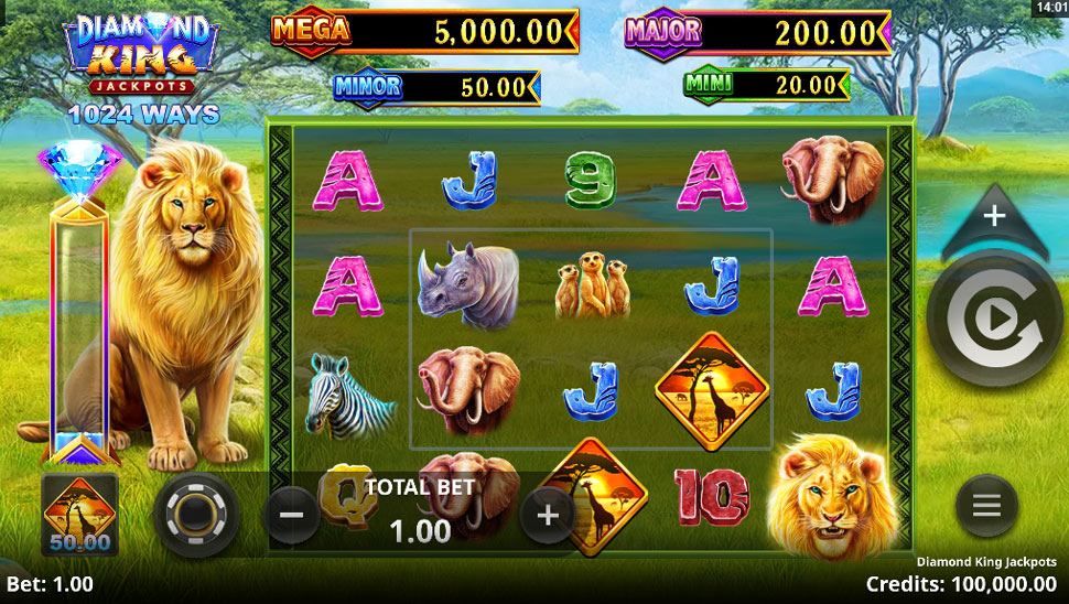 Diamond King Jackpots - Slot