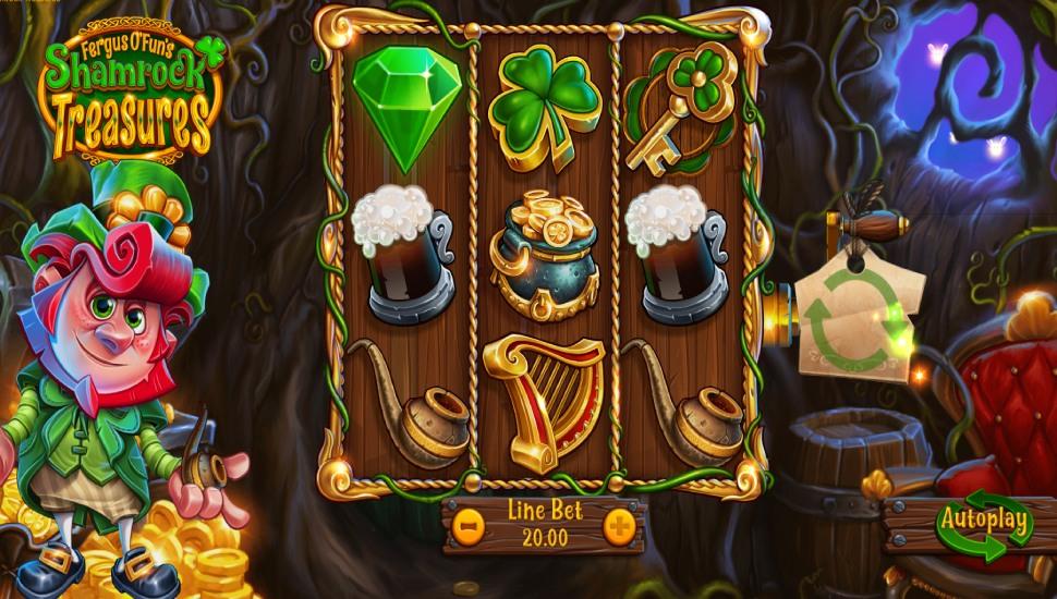 Fergus O'Fun's Shamrock Treasures - Slot