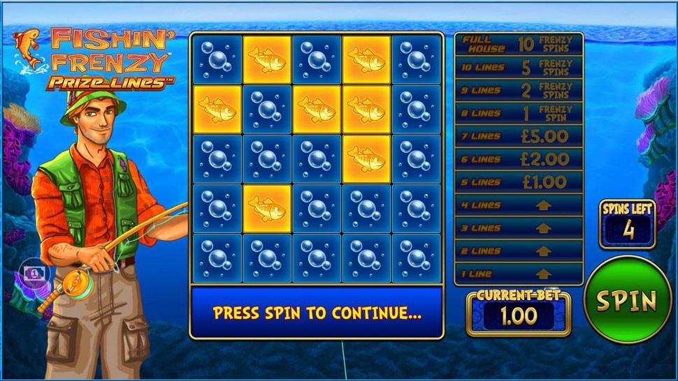 Fishin' Frenzy Prize Lines - Slot