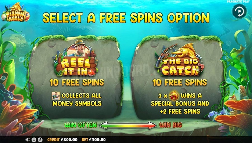 Fishin' Reels - Bonus Features