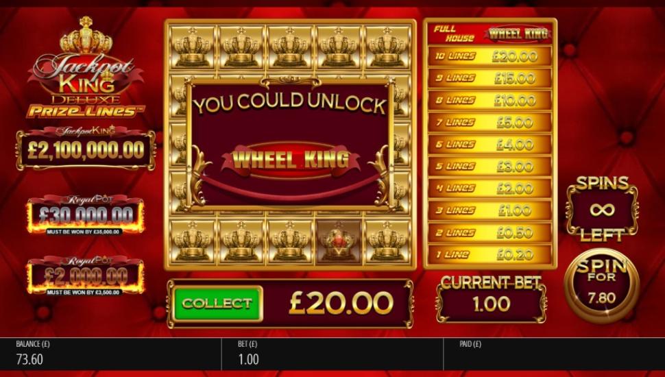 Jackpot King Prize Lines - Bonus Features