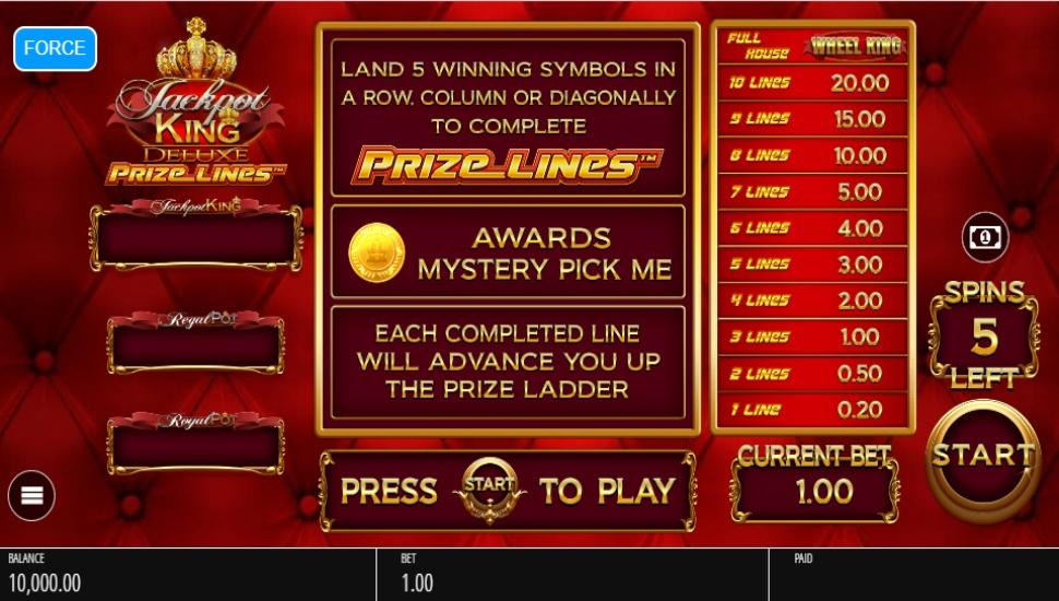 Jackpot King Prize Lines - Slot