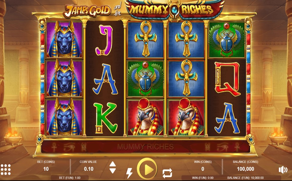 James Gold and the Mummy Riches - Slot