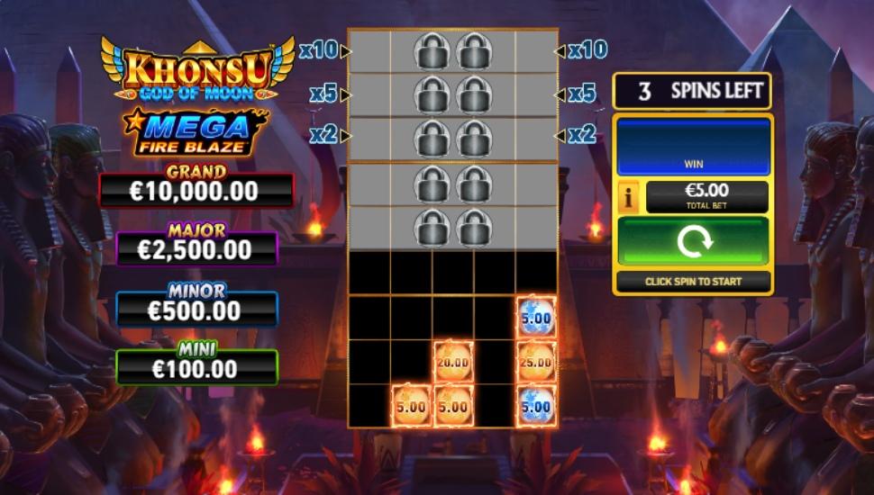 Khonsu: God of Moon Mega Fire Blaze Jackpots - Bonus Features