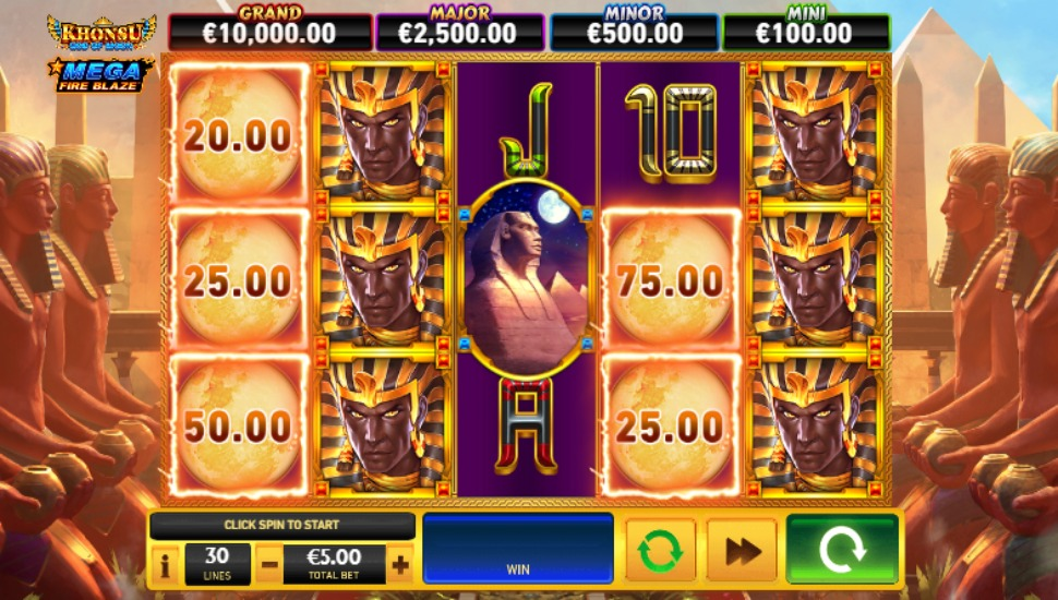 Khonsu: God of Moon Mega Fire Blaze Jackpots - Slot