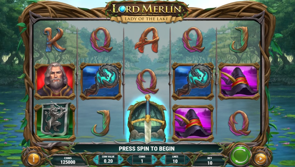 Lord Merlin and the Lady of the Lake - Slot