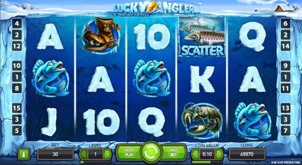 Lucky Angler: A Snowy Catch - online slot