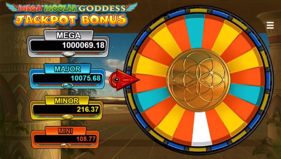 Mega Moolah Goddess - Bonus Features