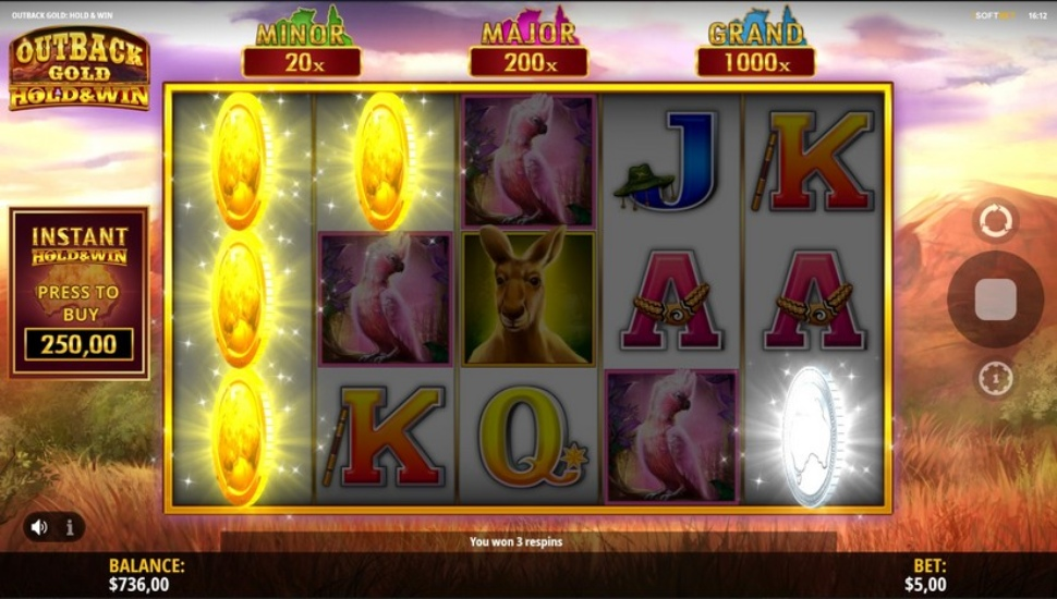 Outback Gold: Hold and Win - Slot