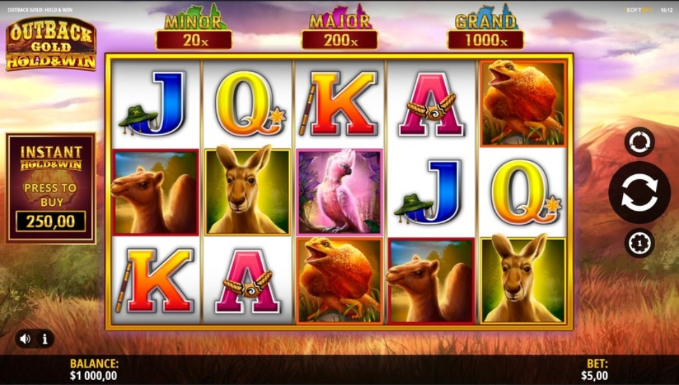 Outback Gold: Hold and Win Slot by iSoftBet