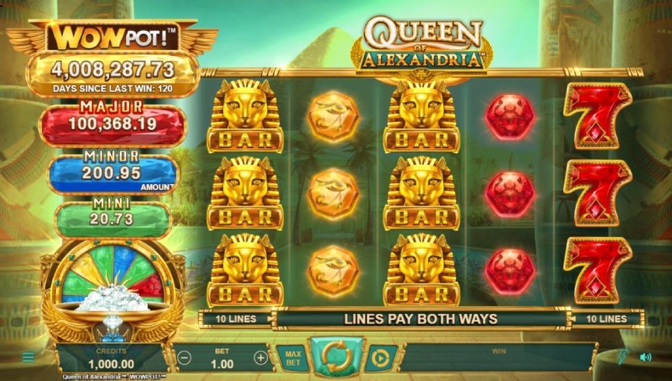 Queen of Alexandria WOWPOT! - Slot