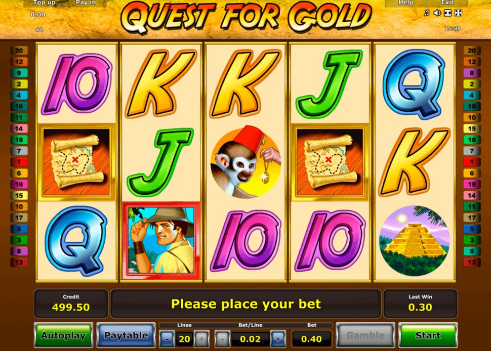 Quest for Gold online slot