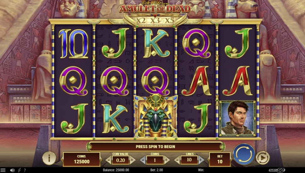Rich Wilde and the Amulet of Dead - Slot