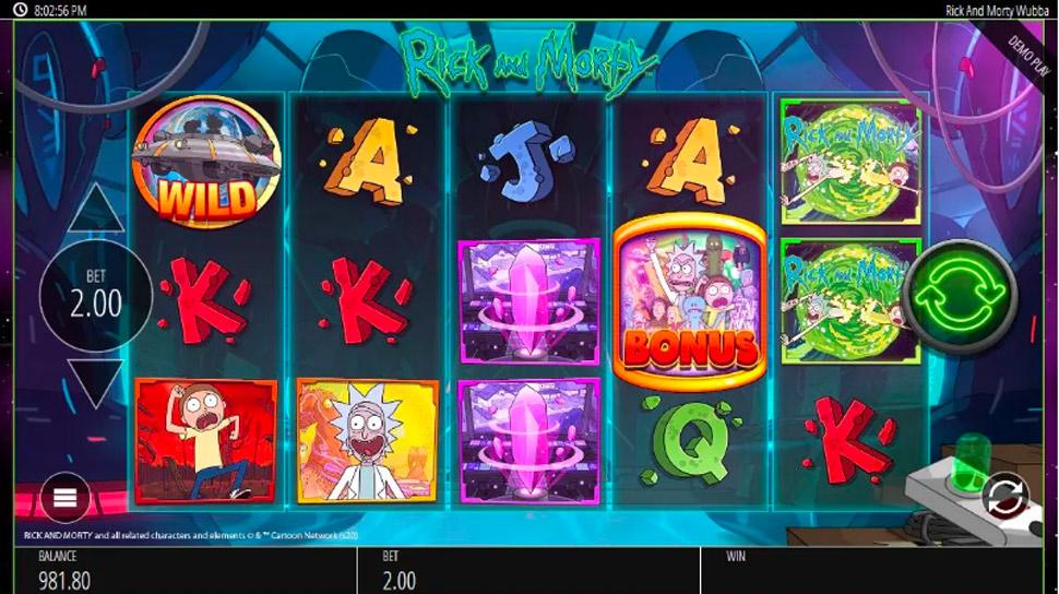 Rick and Morty Wubba Lubba Dub Dub - slot