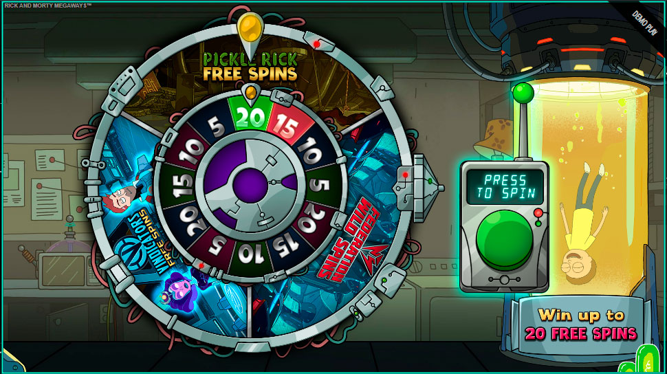 Rick and morty bonus wheel - online slot