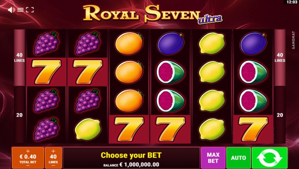 Royal Seven Ultra online slot by Gamomat