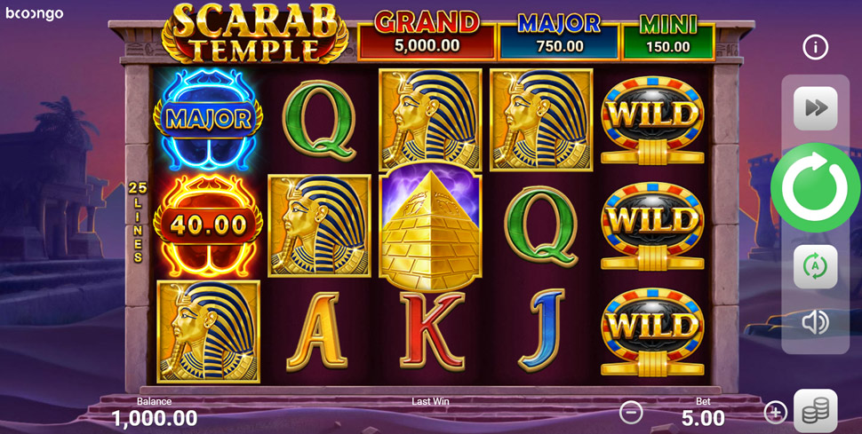 Scarab Temple Hold and Win - Slot