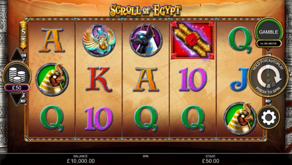 Scroll of Egypt - Slot