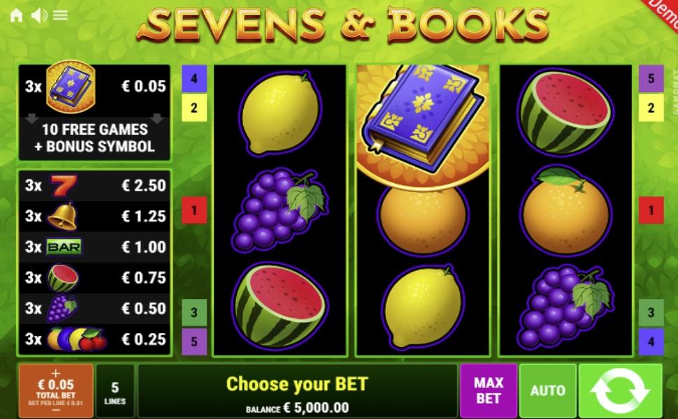 Sevens & Books - Slot