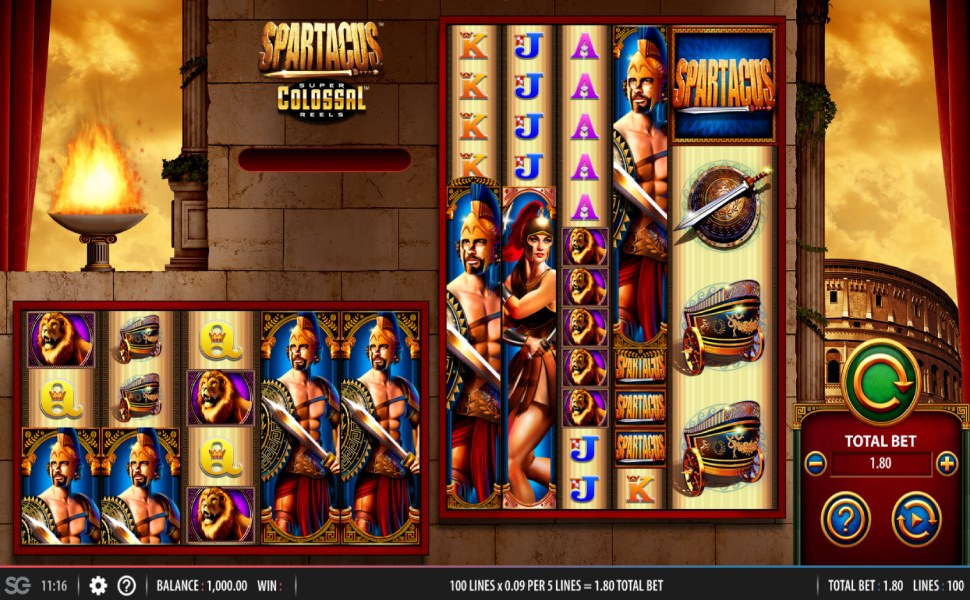 Spartacus Super Colossal Reels - Slot