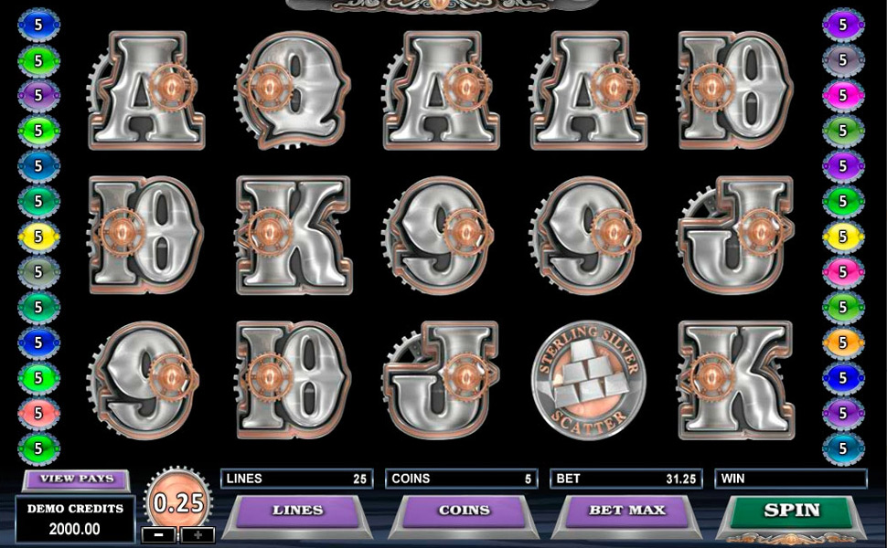 Sterling Silver 3D - Slot