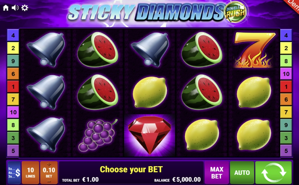 Sticky diamonds double rush - Slot