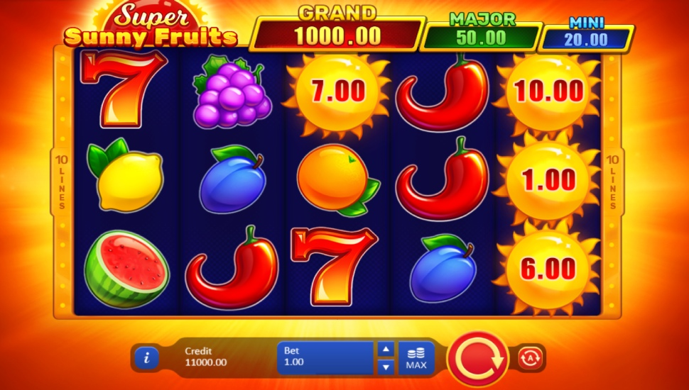 Super Sunny Fruits: Hold and Win - Slot