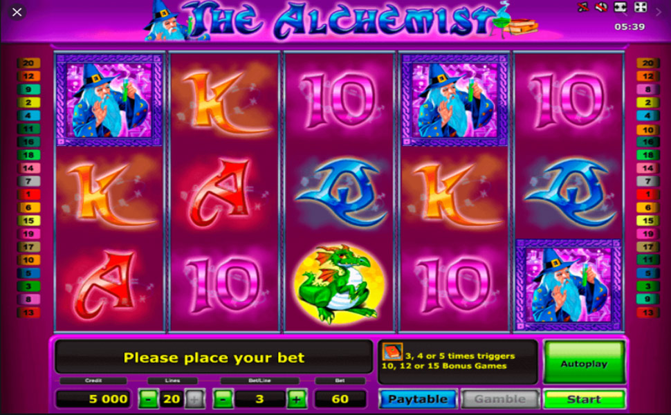 The Alchemist - Slot