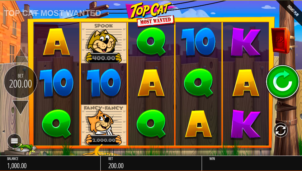 Top Cat Most Wanted - slot