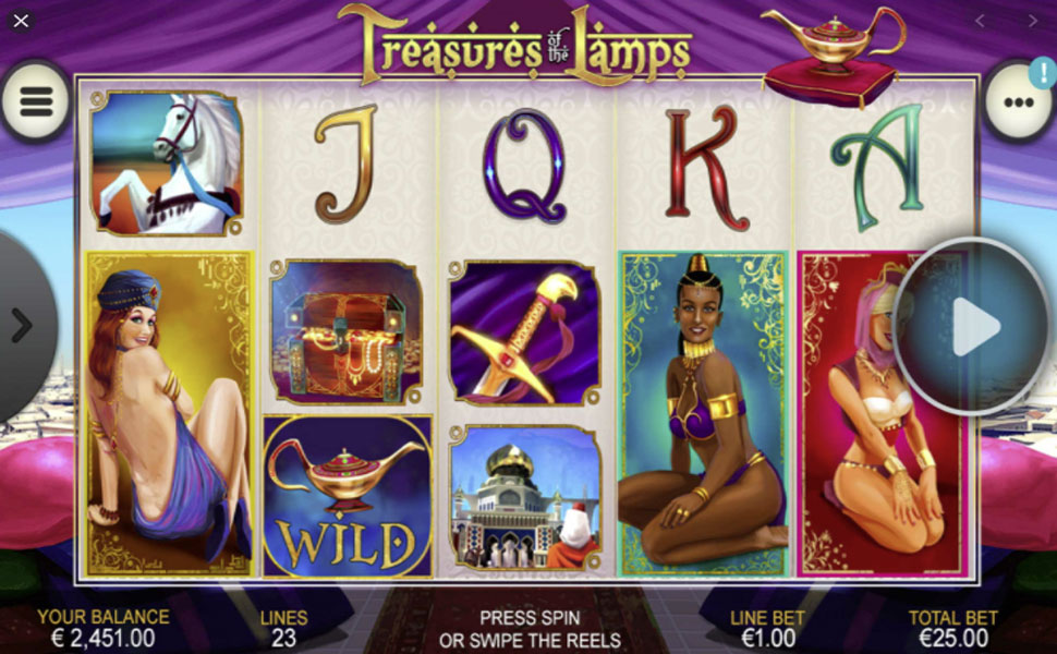 Treasures of the Lamps - slot