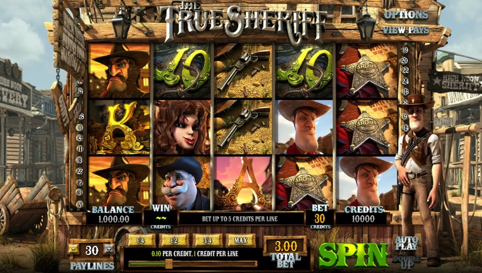 The True Sheriff Online Slot by Betsoft