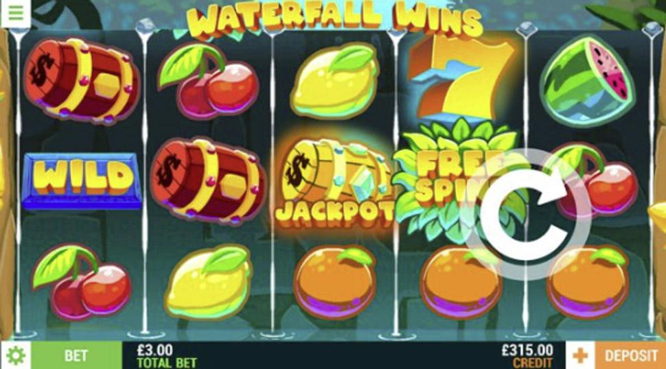 Waterfall wins - slot