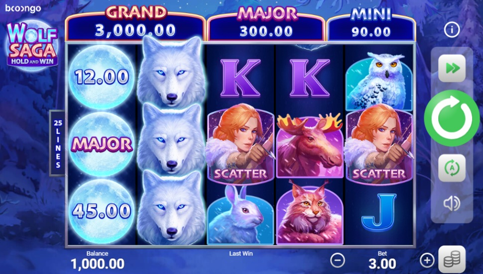 Wolf Saga Hold and Win - Slot
