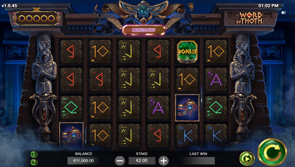Word of Thoth Slot by Yggdrasil
